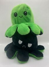 Reversible Flip Octopus Plush, Mood Octupus USA Seller Green/black