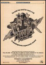 PHANTOM OF THE PARADISE__Orig. 1974 Trade AD / poster_N.Y. promo__BRIAN DE PALMA