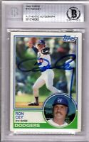 """RON CEY Signed 1983 Topps Card """"LOS ANGELES DODGERS"""" BECKETT SLABBED #0010748263"""