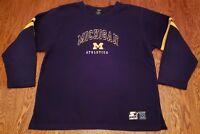 Vintage Michigan Athletics Team Starter Fleece Sweatshirt Size M Wolverines Mens