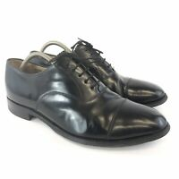 Loake Size 44 UK10 Mens Black Leather Classic Lace Up Oxford Smart Dress Shoes