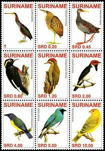 ✔️ SURINAME 2007 - FAUNA BIRDS - MI. 2129/2137 ** MNH OG