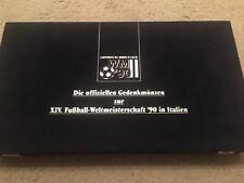 Münzen offizielle Gedenkmünzen XIV.Fußball WM Weltmeisterschaft Italien 90