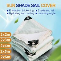 Rectangle Mesh Sun Shade Sail PE Canopy Cover Awning Cover Outdoor Garden   L7