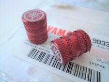 Yamaha (Genuine Parts / Accessories) Valve Dust Caps RED ***UK STOCK***