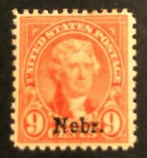 US 678, 9c Nebraska, Mint Hinged, CV=$35.00