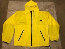 Vintage 90s Helly Hansen Full Zip Yellow Windbreaker Rain Jacket Adult Size L