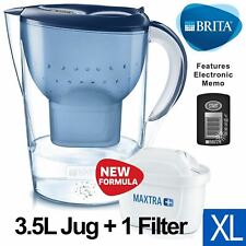 BRITA Marella XL MAXTRA+ Plus 3.5L Water Filter Table Jug with 1 Cartridge, Blue