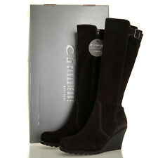 La Canadienne Kacy Brown Suede Knee High Waterproof Wedge Boots - Size 10 M