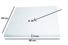 gommapiuma Spugna sintetica angoli arrotondati 27x28x3 cm 10 pezzi