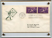 Baseball 855 FDC Cachet 1939 Cooperstown Hall of Fame First Day Issue Centennial