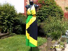NEW  Jamaica National Flag colour Backless, Maxi dress..SIZE...Regular..10-12