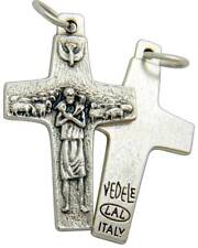 """MRT The Pope Francis Good Shepard Cross by Antonio Vedele Silver Plate Gift 1"""""""
