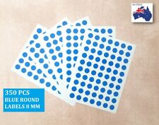 350 Pcs Round Stickers Circle Dots Spots Colour Code Small Blue 8mm