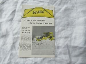 1964 Balderson blade snow plows brochure for CAT Caterpillar tractors
