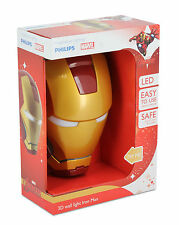 Philips Marvel Iron Man 3d LED Wall Light Including 3aa Batteries