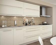 Küchenzeile KVANTUM Küchenblock 240cm grau Front MDF vanille matt 51557977