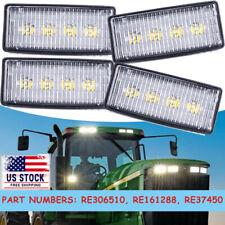 4pcs Led Upper Cab Light Lamp Fit For John Deere 4050 4250 4450 4650 4850