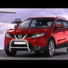 PARE BUFFLE NISSAN QASHQAI 2014- HOMOLOGUE INOX D 60MM, AVEC TRAVERSE DIA 42MM