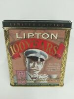 Lipton 100 Years Limited Edition Tin Tea Can Vintage 1890 Empty Collector Can