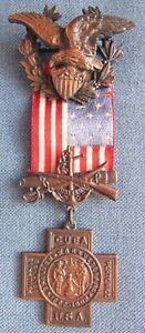 Original, full size United Spanish War Veteran medal #B5782