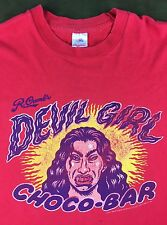 Vintage Mens XL 90s R. Crumb's Devil Girl Choco-Bar Candy Graphic Red T-Shirt