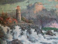Thomas Kinkade Painter of Light Throw Blanket Conquering the Storms NEW OPEN BAG