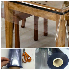 Clear Transparent PVC Tablecloth Table Protector Waterproof 0.25mm