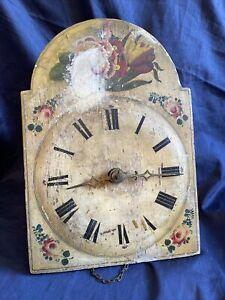Holzräderuhr Schilderuhr Schwarzwalduhr Antik Wanduhr Uhr Pendeluhr Vintage