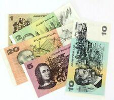 Australian Australia $1, $2, $5, $10, $20 Dollar Currency Banknote Bill Lot