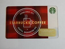2014 - Starbucks on Plaid - Holiday Issue Starbucks Card - New & Never Swiped