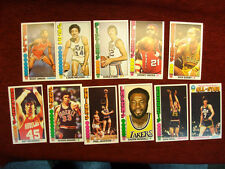11 DIFFERENT 1976-77 TOPPS LARGE SIZE BASKETBALL CARDS - MARAVICH, BARRY - NICE
