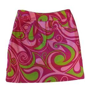 Loudmouth Golf Skort Geo Print Skirt Retro 70s Look Womens Athletic Size 0