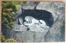 AK SCHWEIZ Luzern Löwendenkmal Ansichtskarte Postcard LÖWE Switzerland Suisse