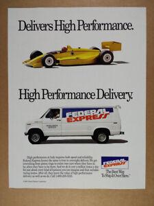 1990 Federal Express FedEx van photo vintage print Ad