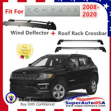 Top Roof Rack Fits Jeep Compass 2017-2020 Luggage Crossbar+Wind Deflector