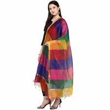 Women Girls Silk Dupatta Tippet Scarf Traditional Wear