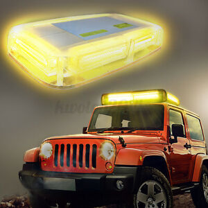 Rooftop Enforcement Emergency Hazard Beacon Warning Strobe Police COB LED Light