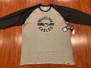 '47 Brand Men's Philadelphia Eagles 3/4 Sleeve Retro Legacy Jersey Shirt XXL 2XL