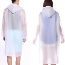 Waterproof raincoat transparent PVC plastic raincoat Women Girls Runway Style