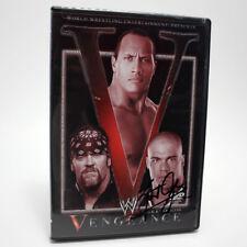 Wwe Vengeance 2002 Quick & Merciless DVD SIGNED ** KURT ANGLE ** FACTORY SEALED