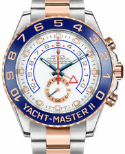 Rolex Yacht-Master II 18k Everose Gold/Steel Cerachrom White Dial Watch 116681