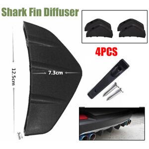 4× Car Triangular Rear Bumper Lip Spoiler Diffuser Shark Fin Anti-collision Trim