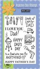 HERO ARTS Clear Stamps HAPPY DAD'S DAY # CL335 FATHER LOADS OF LOVE TOOLS