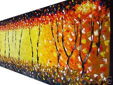 Bush Fire Dream  on canvas original  Australia landscape art By Jane COA