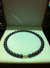"""10-11MM AAA+ SOUTH SEA black PEARL NECKLACE 18""""14k"""