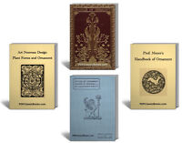 Ultimate Set of Vintage Antique Ornament Books Plant Form Art Nouveau Design ~CD
