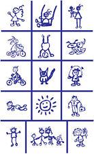 Armour Rub 'n' Etch Glass Etching Stencil  ~ Kids Children Child Drawings