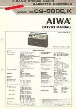 AIWA CS 880 CS J88 CS G88 - BOOMBOX - SERVICE MANUAL IN COLOR VERSION - REPAIR -