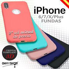 Funda Iphone 6 6s 7 Plus X Silicona Gel Suave Delgada Carcasa Tpu + Protector